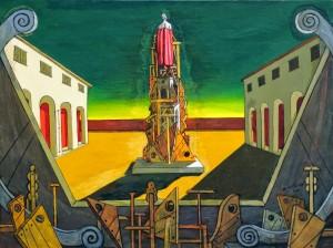 Giorgio de Chirico, Il grande metafisico, 1971, olio su tela, 80 x 60 cm